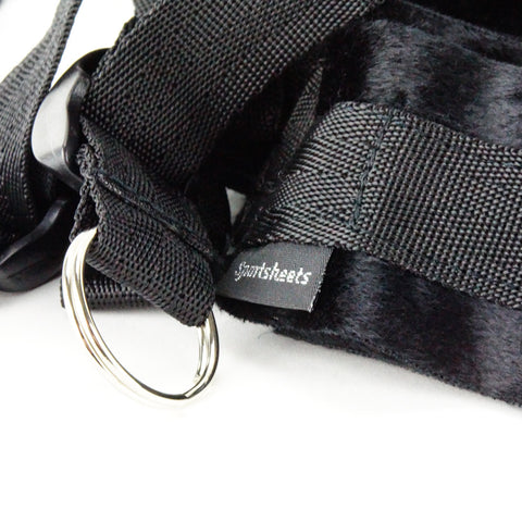 Sportsheets Under the Bed Restraint System Original Black Close Up