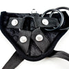 Sportsheets Vibrating Velvet Strap-On Harness Black Driver Plate