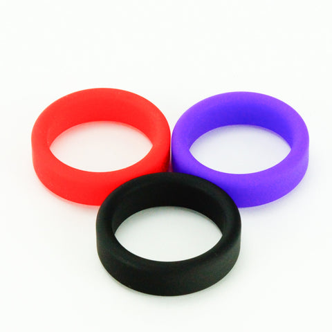 Tantus Super Soft C-Ring Cock Ring Black Red Purple