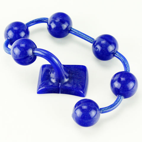 Vixen Creations Gemstones Anal Beads Large Sapphire Blue
