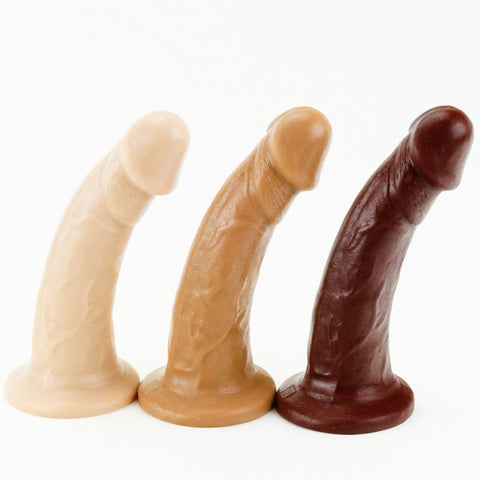 Vixen Creations VixSkin Mustang Dildo Vanilla Caramel and Chocolate