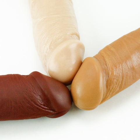 Vixen Creations VixSkin Outlaw Dildo Chocolate Caramel and Vanilla Close Up