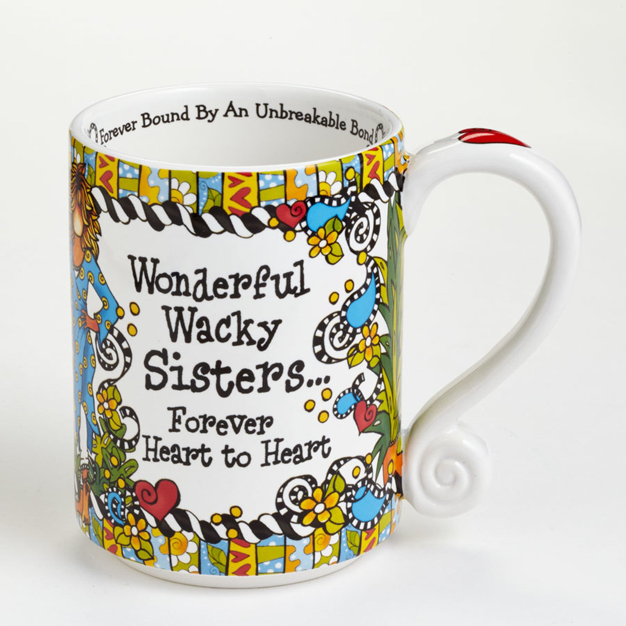 Quot Wonderful Wacky Sisters Forever Heart To Heart Quot Mug