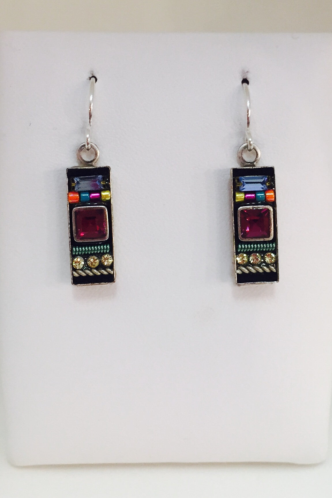 Architect Rectangle Earrings-Multicolor