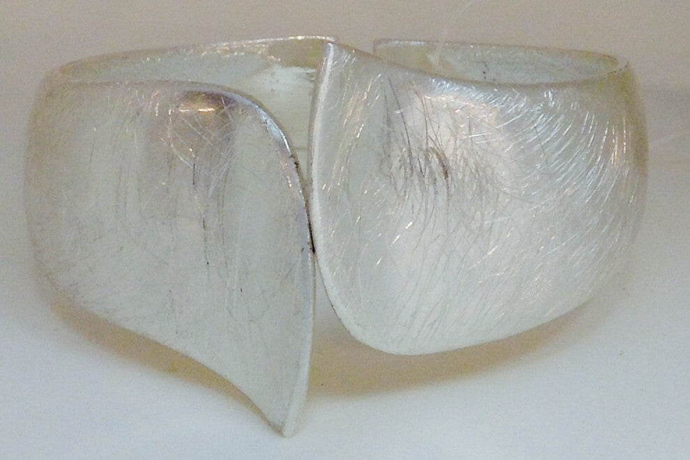 Silver Hinged Cuff Bracelet