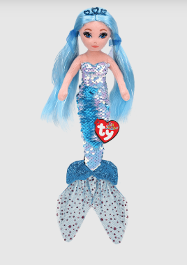 Indigo Mermaid Sequin Plush