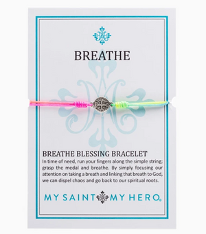 Breathe Bracelet-Rainbow/Silver