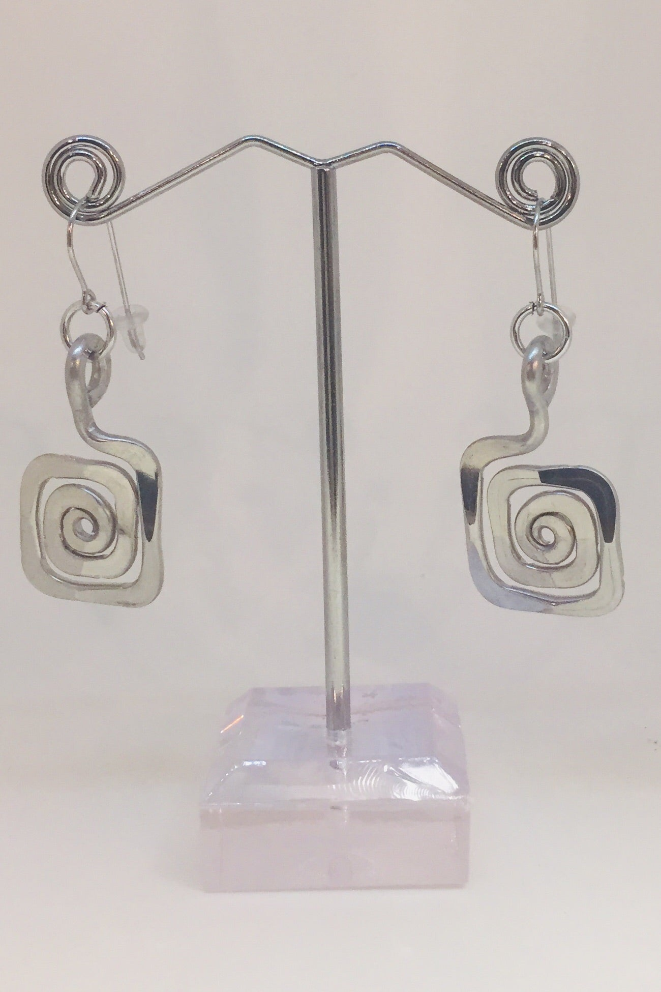 Small Spiral Square Earring