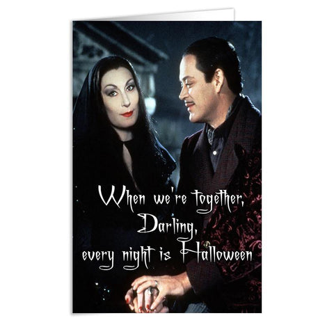 Addams Family Card - Shady Front / Wholesale Prints, Patches, Buttons, Greetings Cards, New Jersey Apparel, Stickers, Accessories
