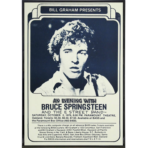 An Evening with Bruce Springsteen Poster Print - Shady Front / Wholesale Prints, Patches, Buttons, Greetings Cards, New Jersey Apparel, Stickers, Accessories