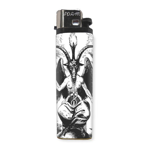 Baphomet Goat Lighter - Shady Front / Wholesale Prints, Patches, Buttons, Greetings Cards, New Jersey Apparel, Stickers, Accessories