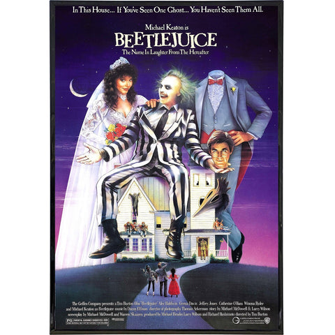 Beetlejuice Film Poster Print - Shady Front / Wholesale Prints, Patches, Buttons, Greetings Cards, New Jersey Apparel, Stickers, Accessories