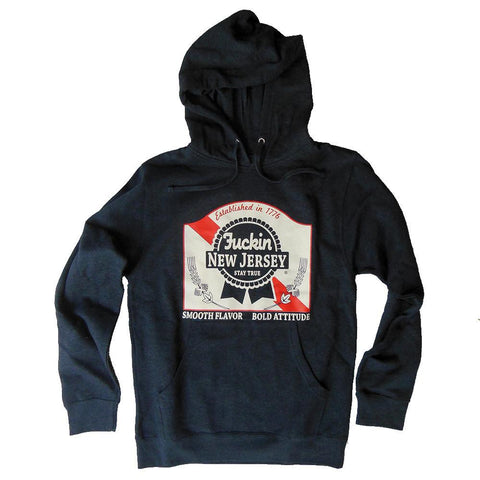 Blue Ribbon Hoodie - Shady Front / Wholesale Prints, Patches, Buttons, Greetings Cards, New Jersey Apparel, Stickers, Accessories