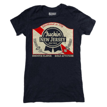 Blue Ribbon Girls Shirt - Shady Front / Wholesale Prints, Patches, Buttons, Greetings Cards, New Jersey Apparel, Stickers, Accessories