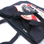 Blue Ribbon Zippered Bag - Shady Front / Wholesale Prints, Patches, Buttons, Greetings Cards, New Jersey Apparel, Stickers, Accessories