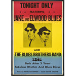 Blues Brothers Playbill Poster Print - Shady Front / Wholesale Prints, Patches, Buttons, Greetings Cards, New Jersey Apparel, Stickers, Accessories