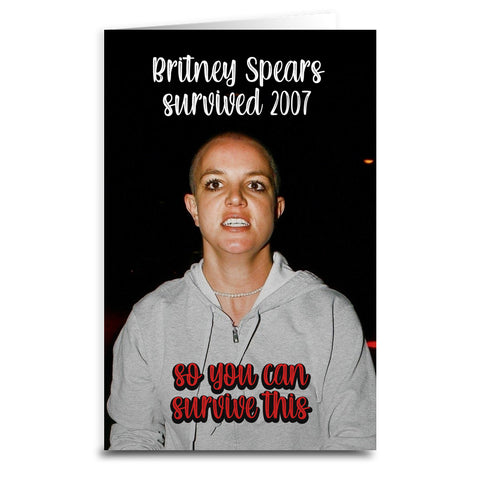 Britney Spears Survived Card
