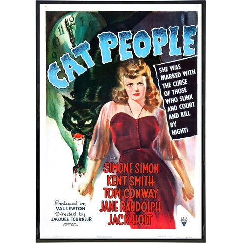 Cat People Film Poster Print - Shady Front / Wholesale Prints, Patches, Buttons, Greetings Cards, New Jersey Apparel, Stickers, Accessories