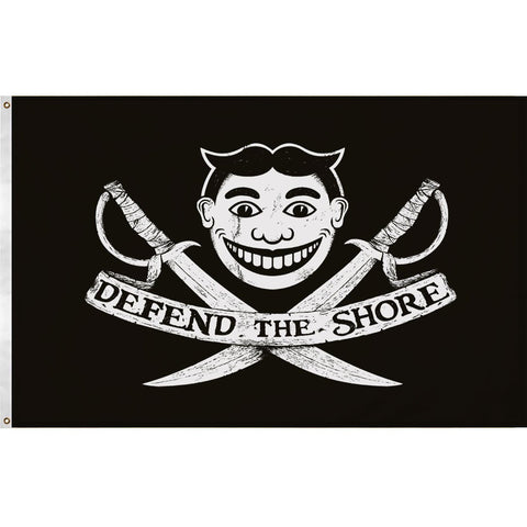Defend the Shore Flag - Shady Front / Wholesale Prints, Patches, Buttons, Greetings Cards, New Jersey Apparel, Stickers, Accessories