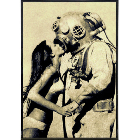 Deep Sea Kiss Vintage Photo Print - Shady Front / Wholesale Prints, Patches, Buttons, Greetings Cards, New Jersey Apparel, Stickers, Accessories
