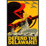Defend the Delaware Print - Shady Front / Wholesale Prints, Patches, Buttons, Greetings Cards, New Jersey Apparel, Stickers, Accessories
