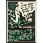 Devil's Harvest Smoke of Hell Print - Shady Front / Wholesale Prints, Patches, Buttons, Greetings Cards, New Jersey Apparel, Stickers, Accessories