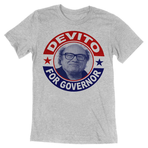 DeVito for Governor Guys Shirt - Shady Front / Wholesale Prints, Patches, Buttons, Greetings Cards, New Jersey Apparel, Stickers, Accessories