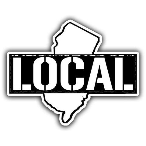 Local Stamp Sticker - Shady Front / Wholesale Prints, Patches, Buttons, Greetings Cards, New Jersey Apparel, Stickers, Accessories