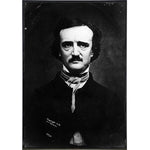 Edgar Allan Poe Portrait Print - Shady Front / Wholesale Prints, Patches, Buttons, Greetings Cards, New Jersey Apparel, Stickers, Accessories