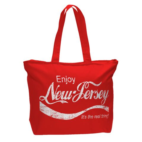 Enjoy Zippered Bag - Shady Front / Wholesale Prints, Patches, Buttons, Greetings Cards, New Jersey Apparel, Stickers, Accessories
