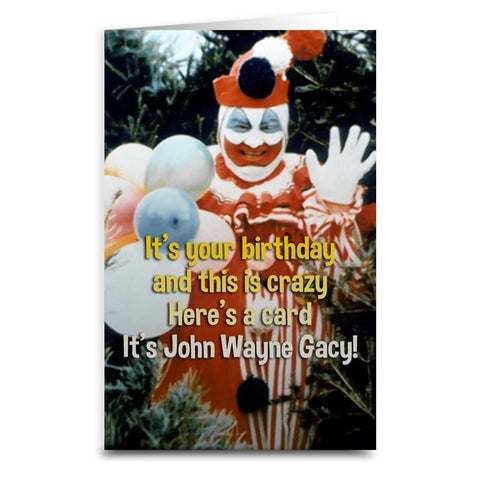 "Gacy ""Pogo the Clown"" Card - Shady Front / Wholesale Prints, Patches, Buttons, Greetings Cards, New Jersey Apparel, Stickers, Accessories"
