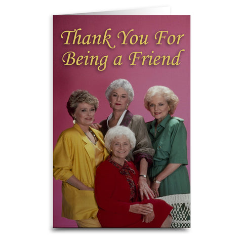 "Golden Girls ""Thank You"" Card - Shady Front / Wholesale Prints, Patches, Buttons, Greetings Cards, New Jersey Apparel, Stickers, Accessories"