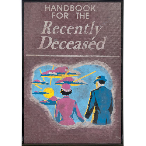 Handbook for the Recently Deceased Print - Shady Front / Wholesale Prints, Patches, Buttons, Greetings Cards, New Jersey Apparel, Stickers, Accessories
