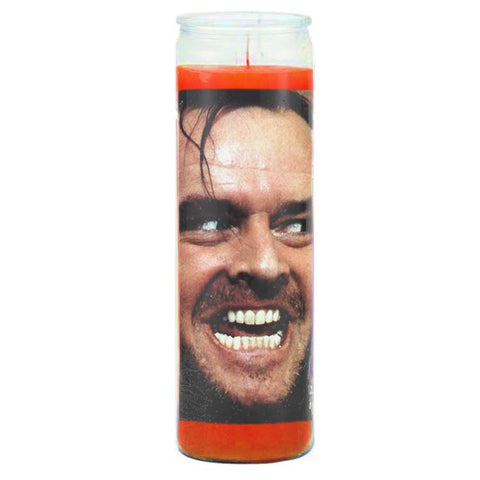 Here's Johnny Prayer Candle - Shady Front / Wholesale Prints, Patches, Buttons, Greetings Cards, New Jersey Apparel, Stickers, Accessories
