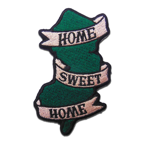Home Sweet Home Embroidered Patch - Shady Front / Wholesale Prints, Patches, Buttons, Greetings Cards, New Jersey Apparel, Stickers, Accessories