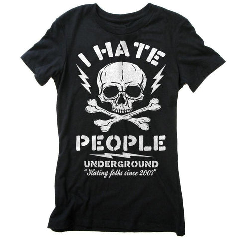 I Hate People - Shady Front / Wholesale Prints, Patches, Buttons, Greetings Cards, New Jersey Apparel, Stickers, Accessories