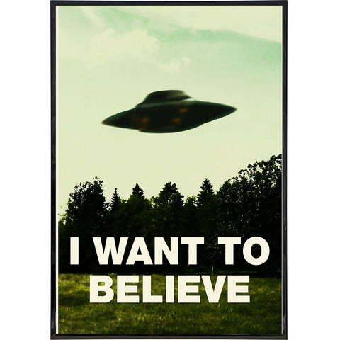 I Want To Believe Poster Print - Shady Front / Wholesale Prints, Patches, Buttons, Greetings Cards, New Jersey Apparel, Stickers, Accessories