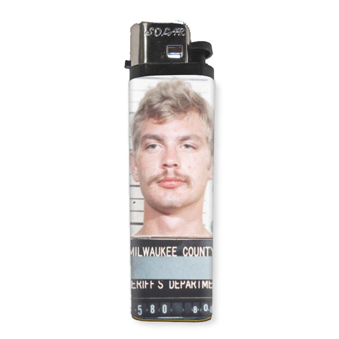 Jeffery Dahmer Lighter - Shady Front / Wholesale Prints, Patches, Buttons, Greetings Cards, New Jersey Apparel, Stickers, Accessories
