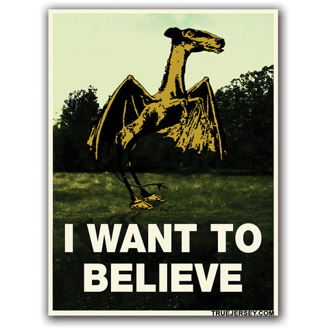 Jersey Devil I Want to Believe Sticker