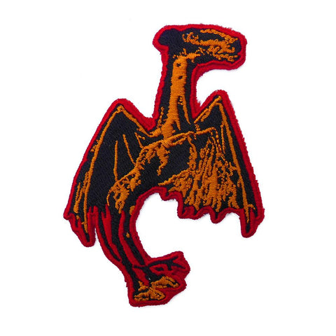 Jersey Devil Embroidered Patch - Shady Front / Wholesale Prints, Patches, Buttons, Greetings Cards, New Jersey Apparel, Stickers, Accessories