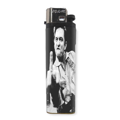 Johnny Cash Lighter - Shady Front / Wholesale Prints, Patches, Buttons, Greetings Cards, New Jersey Apparel, Stickers, Accessories