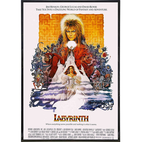 Labyrinth Film Poster Print - Shady Front / Wholesale Prints, Patches, Buttons, Greetings Cards, New Jersey Apparel, Stickers, Accessories