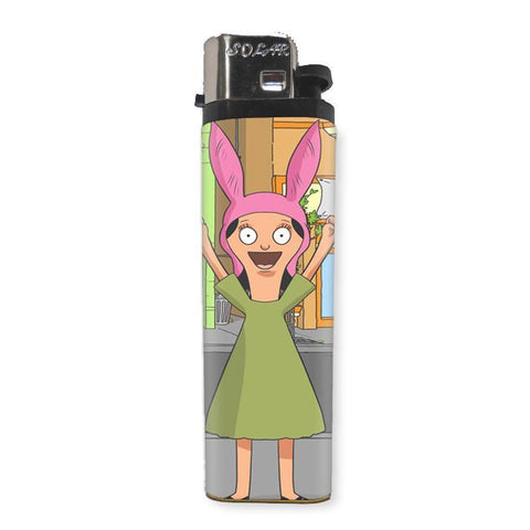 "Louise ""Bob's Burgers"" Lighter - Shady Front / Wholesale Prints, Patches, Buttons, Greetings Cards, New Jersey Apparel, Stickers, Accessories"