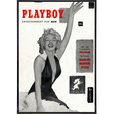 Marilyn Monroe Playboy Cover Print - Shady Front / Wholesale Prints, Patches, Buttons, Greetings Cards, New Jersey Apparel, Stickers, Accessories