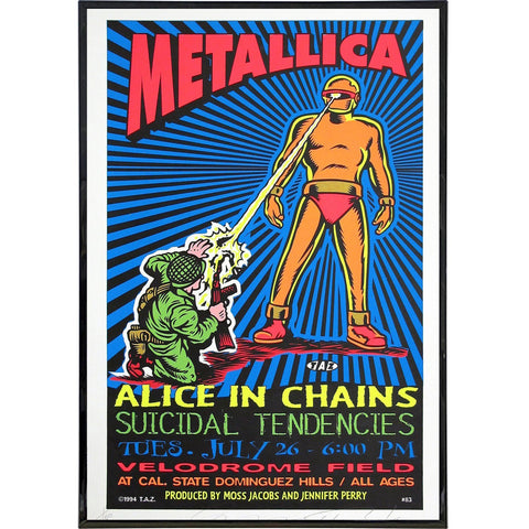 Metallica Velodrome Tour Poster Print - Shady Front / Wholesale Prints, Patches, Buttons, Greetings Cards, New Jersey Apparel, Stickers, Accessories
