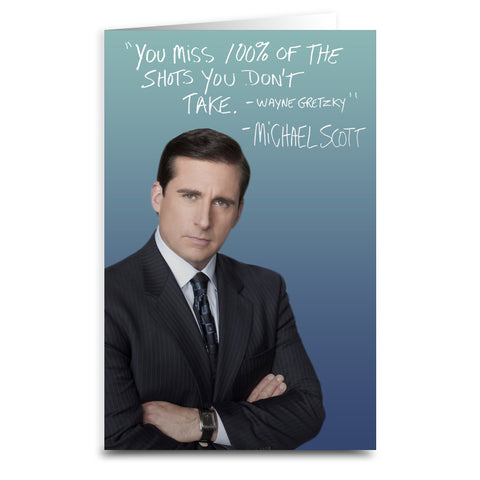 The Office Michael Scott Card - Shady Front / Wholesale Prints, Patches, Buttons, Greetings Cards, New Jersey Apparel, Stickers, Accessories