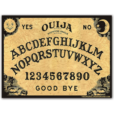 Ouija Sticker - Shady Front / Wholesale Prints, Patches, Buttons, Greetings Cards, New Jersey Apparel, Stickers, Accessories