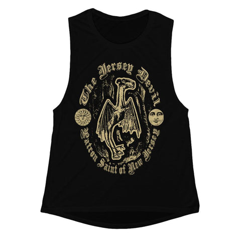 Jersey Devil Patron Saint Girls Tank - Shady Front / Wholesale Prints, Patches, Buttons, Greetings Cards, New Jersey Apparel, Stickers, Accessories