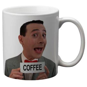 Pee Wee Herman Mug - Shady Front / Wholesale Prints, Patches, Buttons, Greetings Cards, New Jersey Apparel, Stickers, Accessories