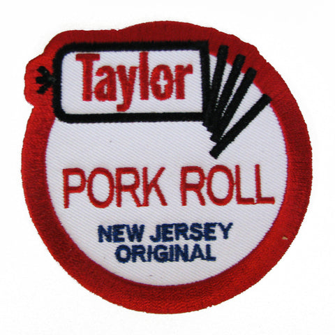 Taylor Ham Pork Roll Embroidered Patch - Shady Front / Wholesale Prints, Patches, Buttons, Greetings Cards, New Jersey Apparel, Stickers, Accessories
